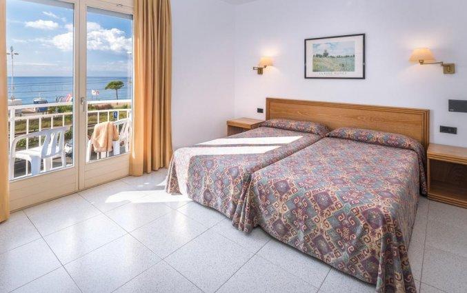 Kamer met uitzicht op zee in Hotel Sorrabona aan de Costa Brava