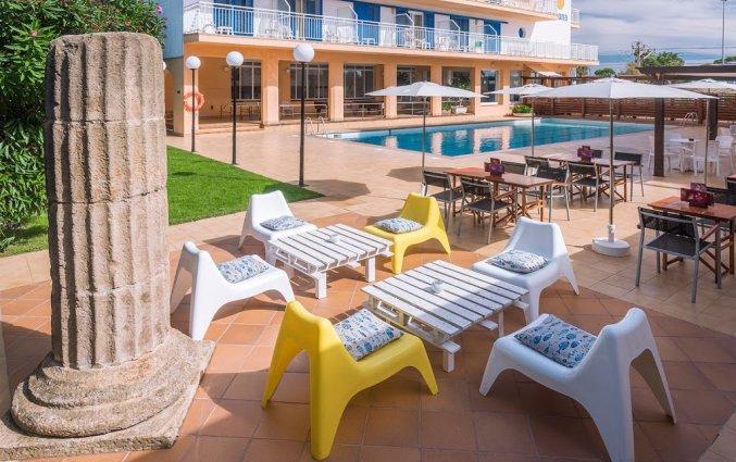 Terras van Hotel Sorrabona in de Costa Brava