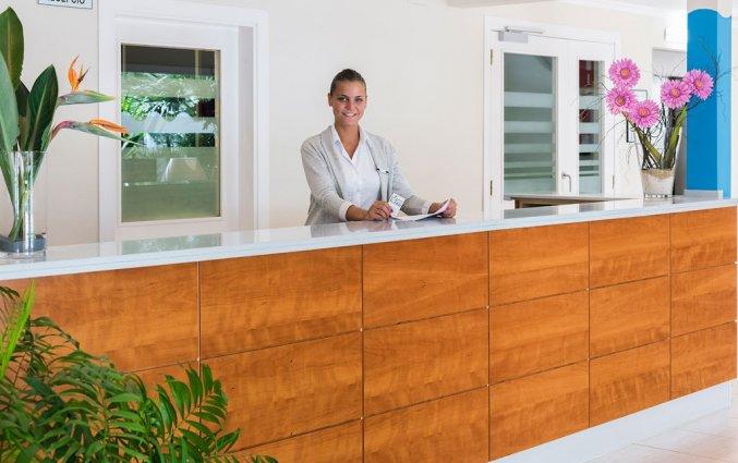 Receptie in Hotel Sorrabona aan de Costa Brava