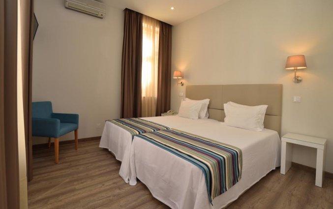 Kamer met twee enkele bedden van Hotel Domus in Porto