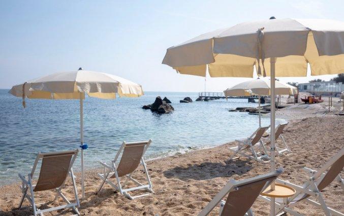 Privestrand van Hotel Riva Del Sole in Puglia
