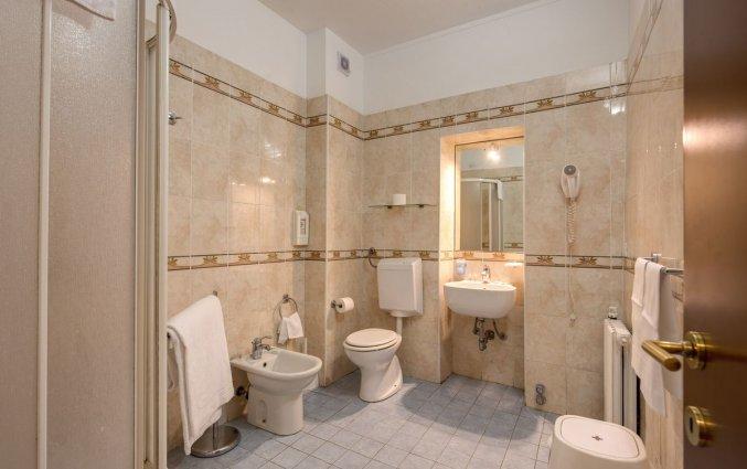 Badkamer van een tweepersoonskamer van Hotel Rio in Milaan