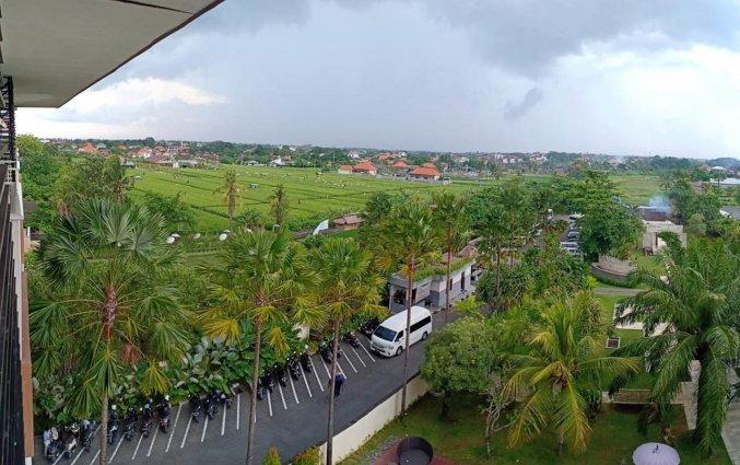 Uitzicht van hotel Seminyak Garden Bali