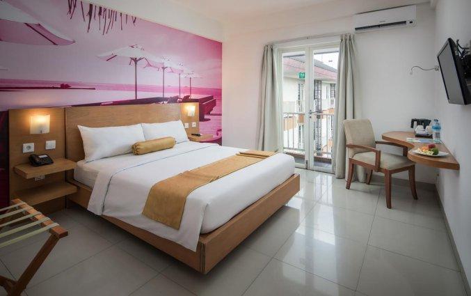 Tweepersoonskamer van hotel Seminyak Garden Bali