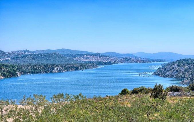 Uitzicht van Hotel Panorama in Dalmatie