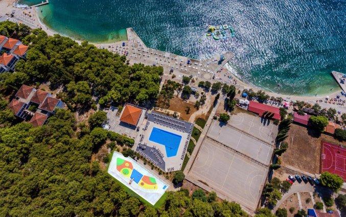 Uitzicht van Hotel Medena in Dalmatië