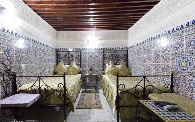 Tweepersoonskamer van Riad Taryana in Fez