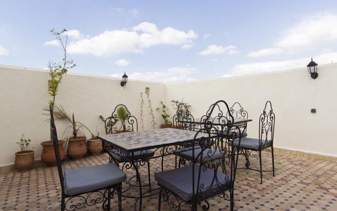 Terras van van Riad Taryana in Fez