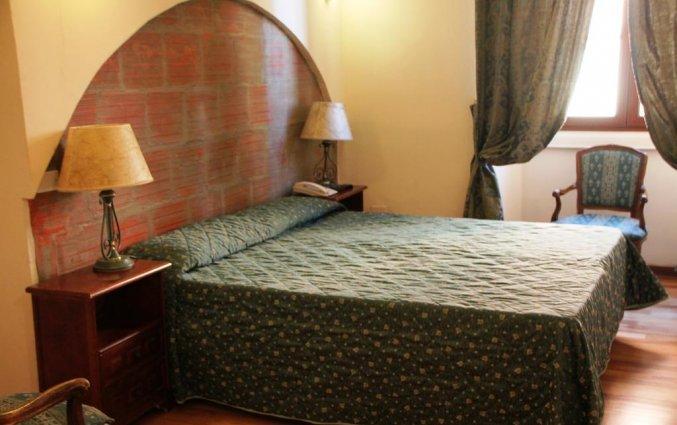 Tweepersoonskamer van hotel Le Due Fontane Florence