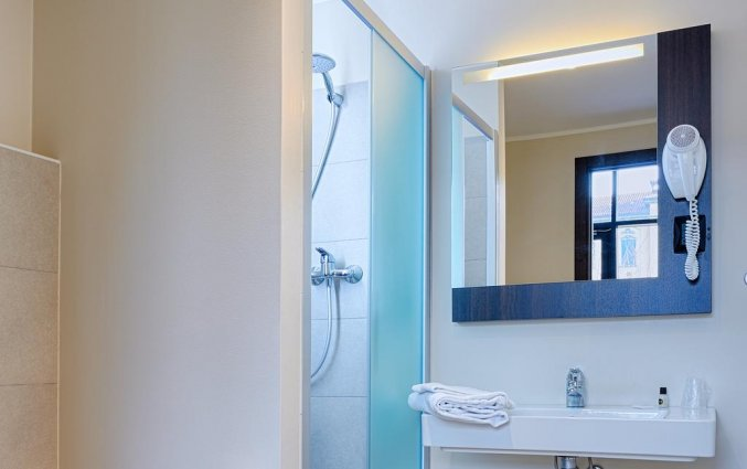 Badkamer van een tweepersoonskamer van Hotel B&B Firenze Nuovo Palazzo Di Giustizia in Florence