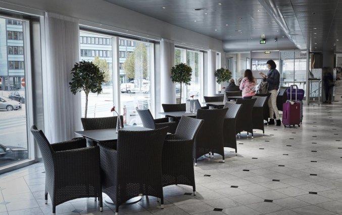 Zithoek van hotel Cabinn City Kopenhagen