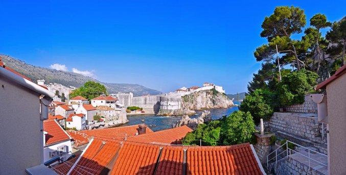 Uitzicht vanaf Apartementen Mia in Dubrovnik