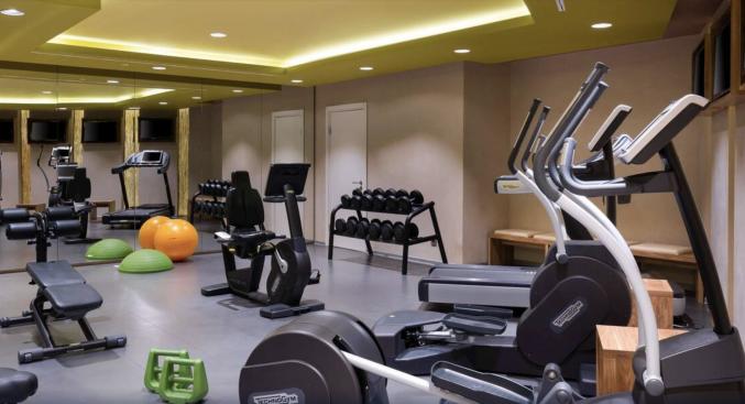 Fitnessruimte in hotel Mercure Moscow Paveletskaya