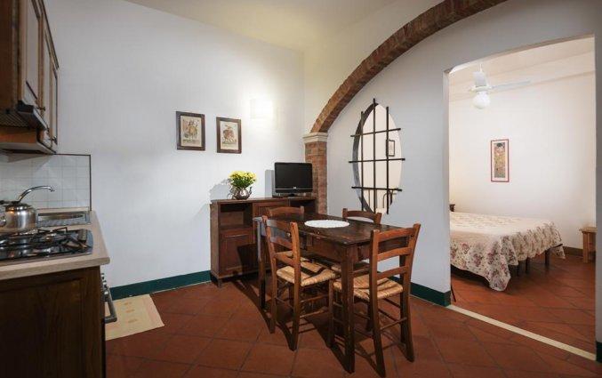 Eetkamer van appartement La Casa Delle Querce