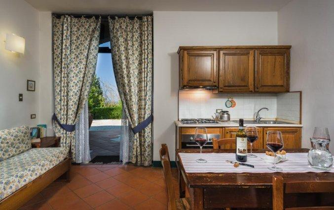 Keuken van appartement La Casa Delle Querce
