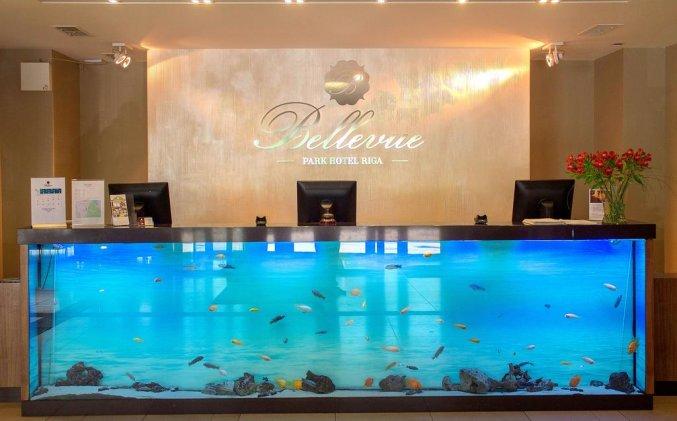 Receptie van hotel Bellevue Park Riga