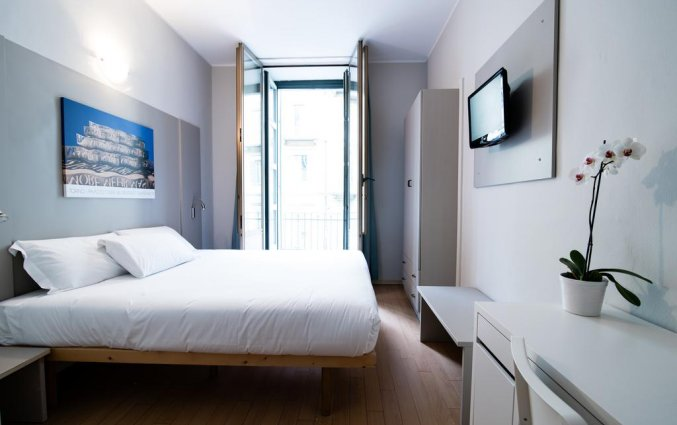 Tweepersoonskamer van Hotel Green Class Astoria in Turijn