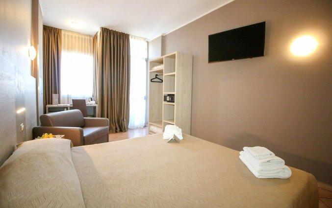 Tweepersoonskamer van hotel Miramonti in Turijn