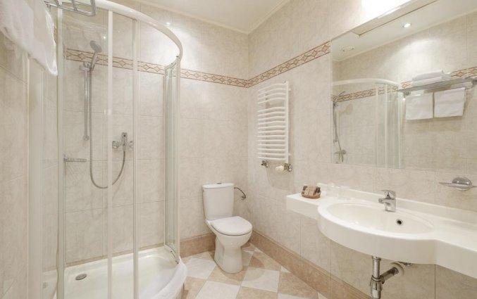 Badkamer van een tweepersoonskamer van Hotel Hetman in Warschau