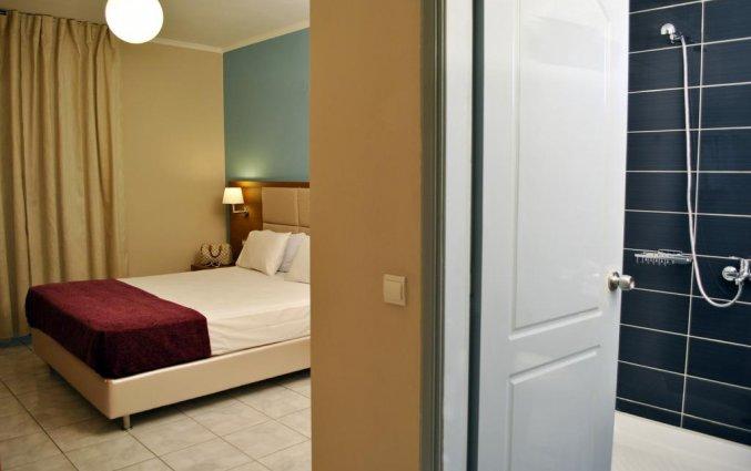 Tweepersoonskamer van Hotel Plessas Palace op Zakynthos