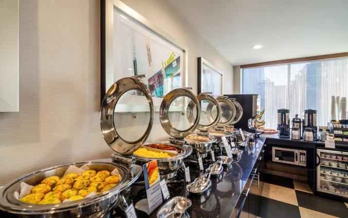 Ontbijtbuffet van Hotel Best Western Plaza in New York