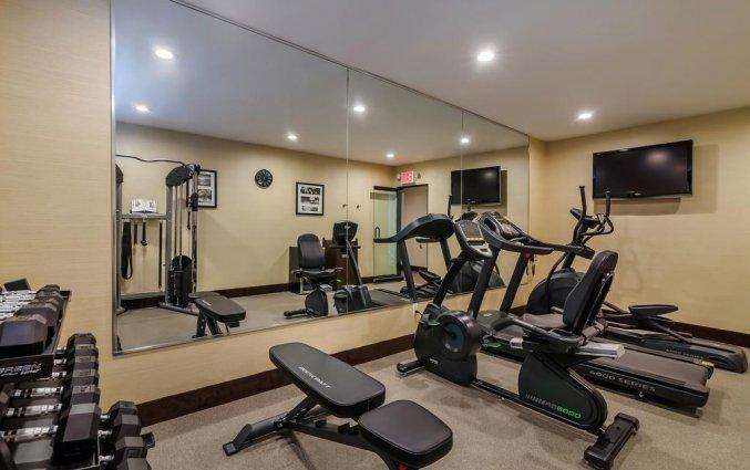 Fitnessruimte van Hotel Best Western Plaza in New York