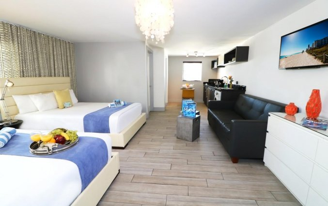 Vierpersoonskamer van appartement Seaside