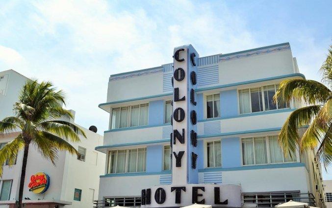 Gebouw van Hotel Colony Ocean Drive in Miami