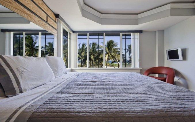 Tweepersoonskamer van Hotel Colony Ocean Drive in Miami