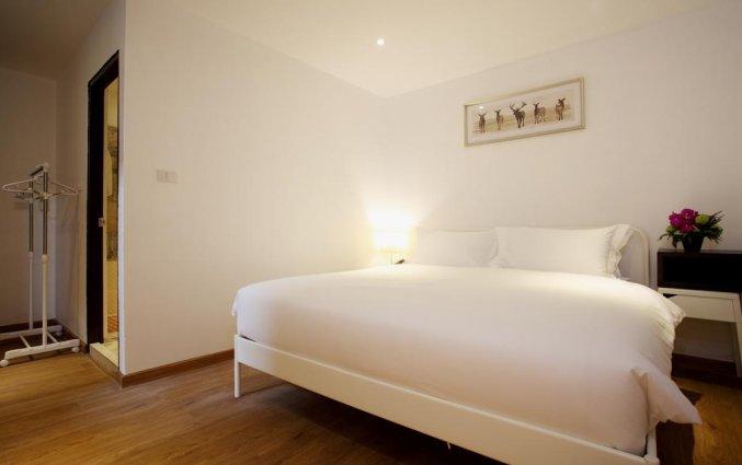 Tweepersoonskamer van hotel Safari beach