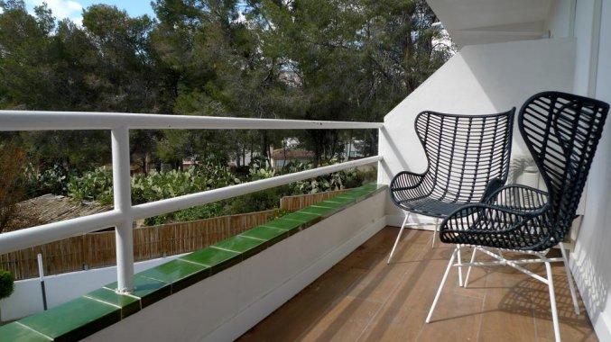 Balkon van een tweepersoonskamer van Hotel La Cocha Soul op Mallorca