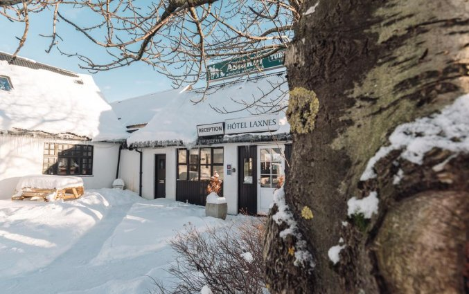 Gebouw van Hotel Laxnes op IJsland