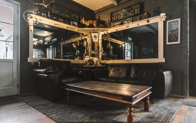 Lounge van Hotel Laxnes op IJsland