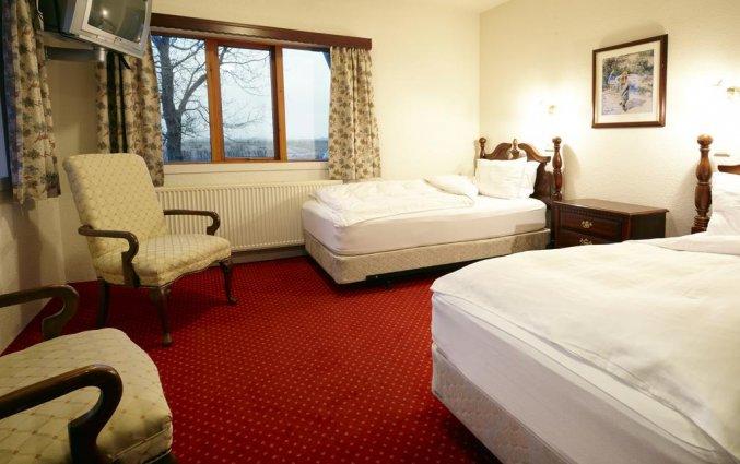 Tweepersoonskamer van Hotel Fosshotel Hekla op IJsland