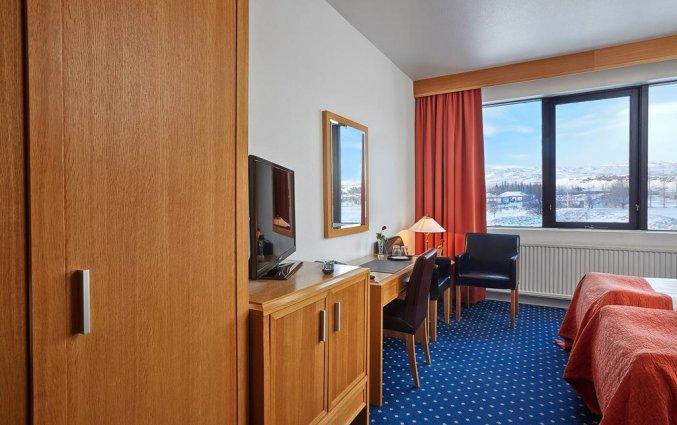Tweepersoonskamer van Hotel Ork op IJsland