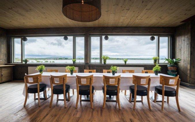Restaurant van Hotel Kriunes op IJsland