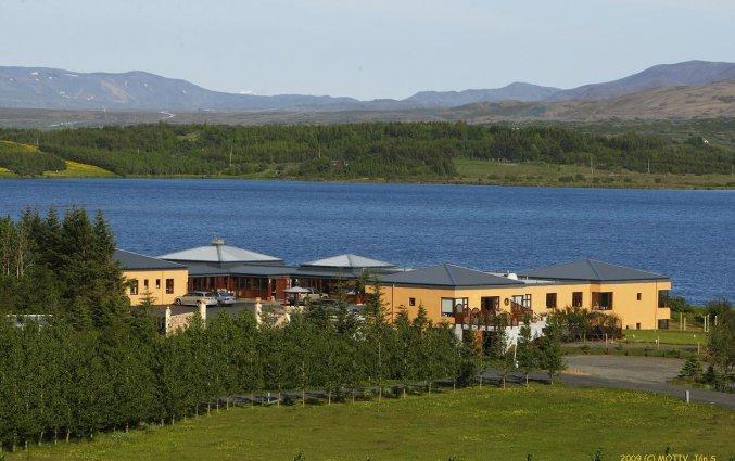 Gebouw van Hotel Kriunes op IJsland