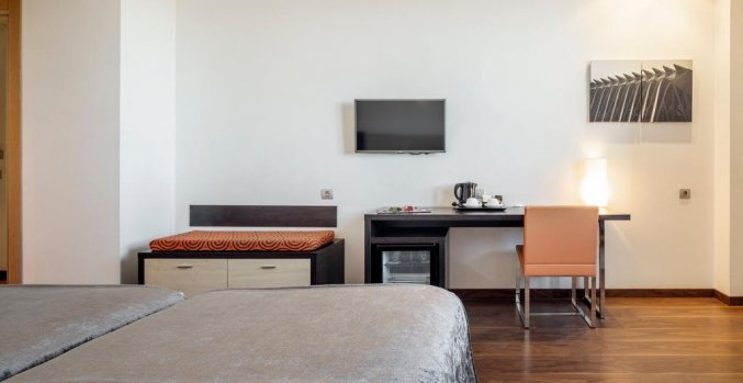 Tweepersoonskamer van Hotel Ilunion Aqua 4 in Valencia
