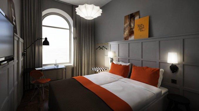 Tweepersoonskamer van Hotel Grand Central By Scandic in Stockholm