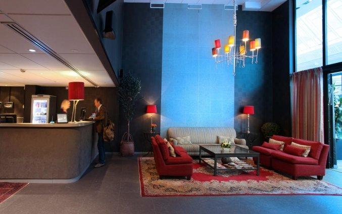 Lobby van Appartementen Biz Gardet in Stockholm