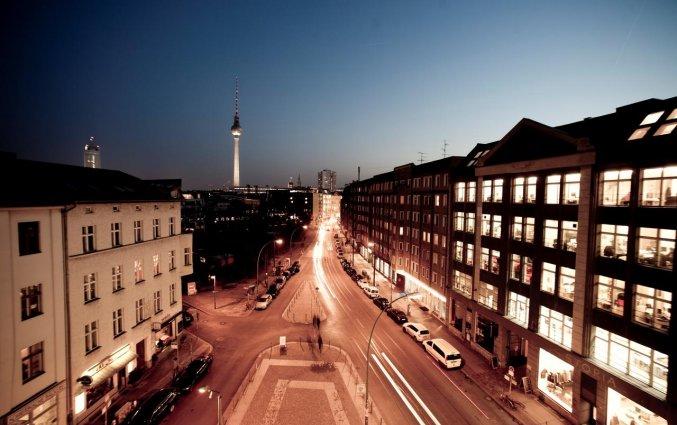 Uitzicht vanaf terras van Hotel AMANO in Berlijn