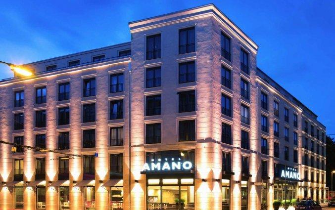 Gebouw van Hotel AMANO in Berlijn