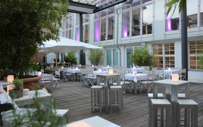 Terras van Hotel Ellington in Berlijn