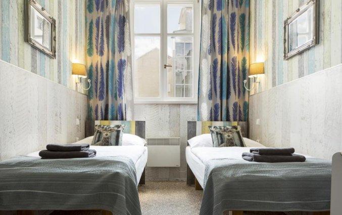 Tweepersoonskamer met twee enkele bedden van Hotel Royal Court in Praag