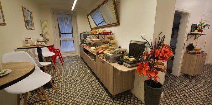 Ontbijt van hotel Suite Home Prague