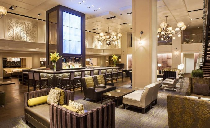 Lounge van Hotel Park Central in New York