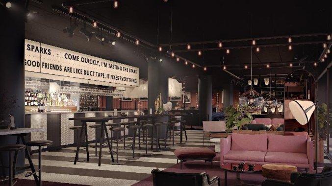 Bar van Hotel Scandic Falkoner in Kopenhagen
