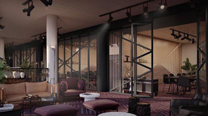 Lobby van Hotel Scandic Falkoner in Kopenhagen