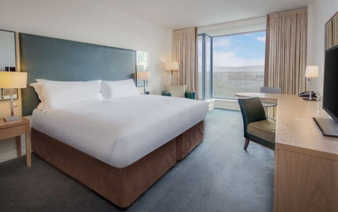 Slaapkamer van hotel Hilton Kilmainham in Dublin
