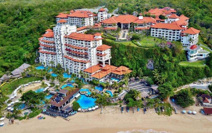 Bovenaanzicht van Resort Hilton Bali